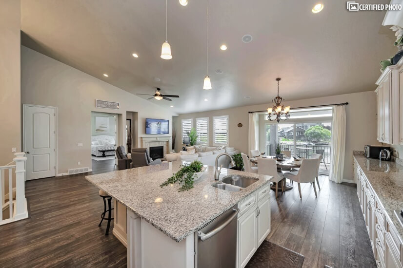 Island with Dishwasher, Sink & Touch Activated Faucet