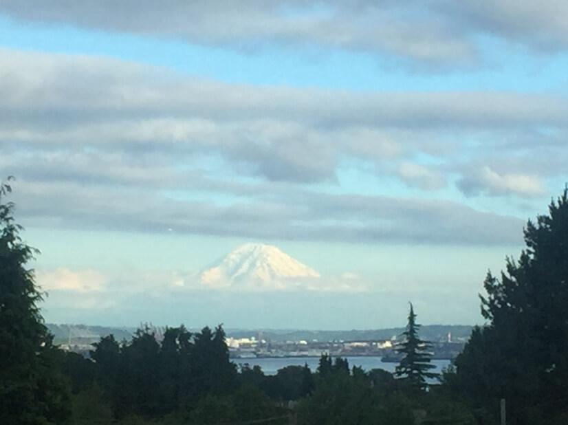 Stunning Views of Mount Rainier.