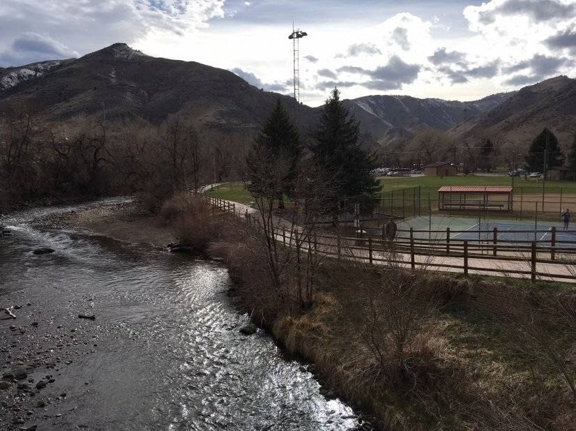 Clear Creek in town below the house