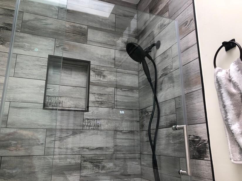 Shared full bathroom top floor