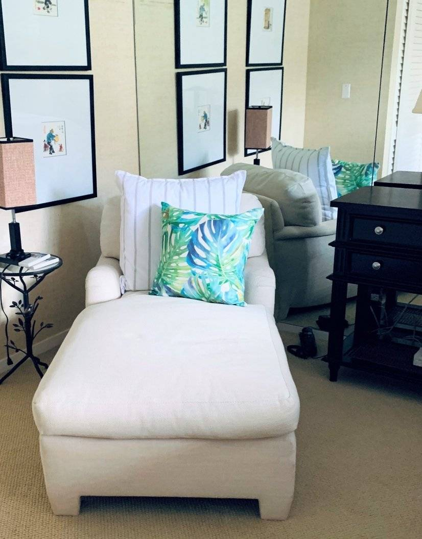 Read a book or watch TV in the master suite