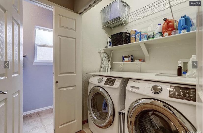 Laundry on main floor