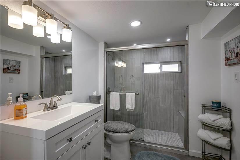 Sparkling new bathroom