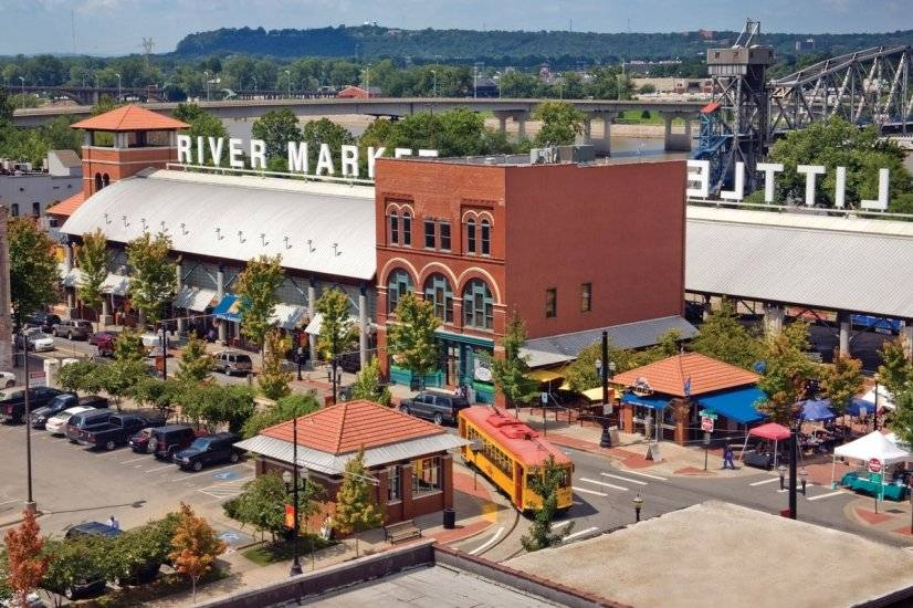 We are less than 15 minutes from the River Market District.