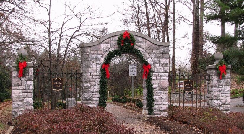 Entrance to Sequoyah Hills Neighborhood