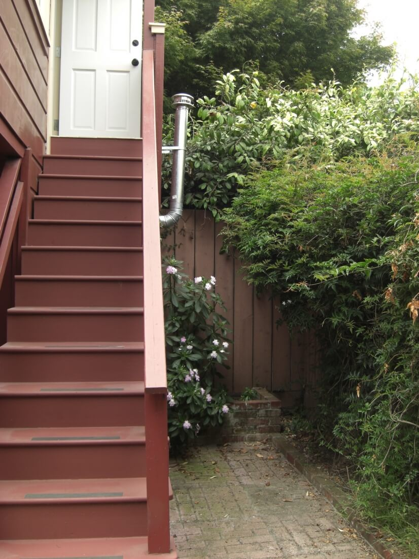 stairs to backyard patio