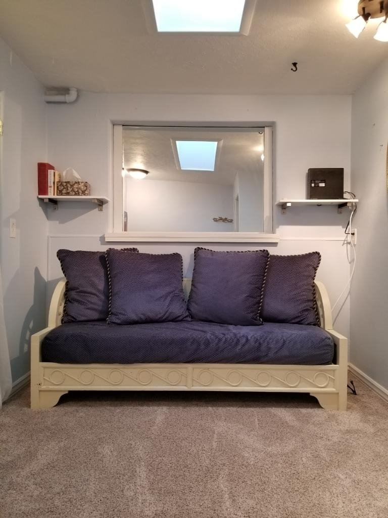 Day Bed in Office.  Also skylight.
