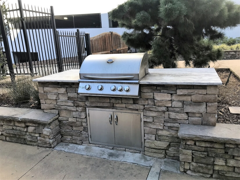 Pool-side Outdoor Grilling