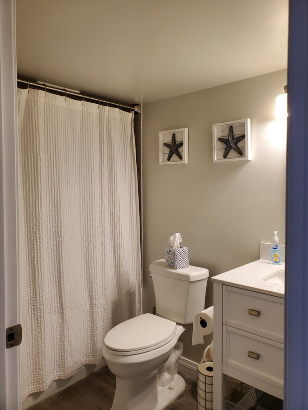 Shower with soaking tub