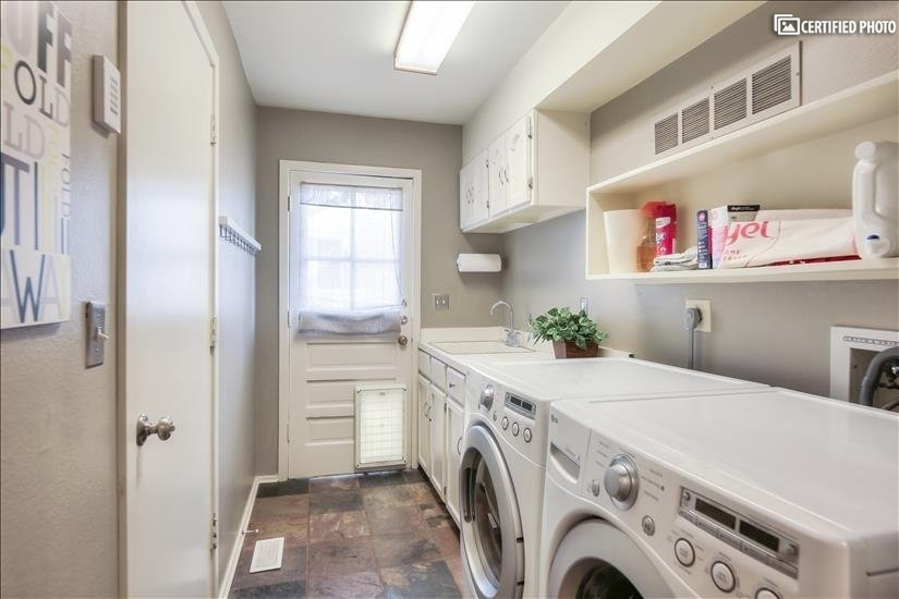 Laundry room LG washer& dryer