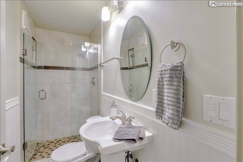 Downstairs bathroom newly remodeled!