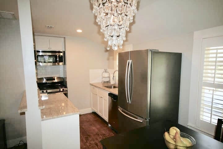 All new full size stainless steel appliances with granite