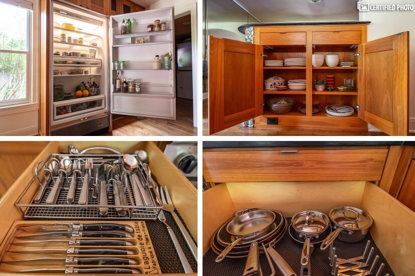 plenty of storage in the Sub Zero all fridge.