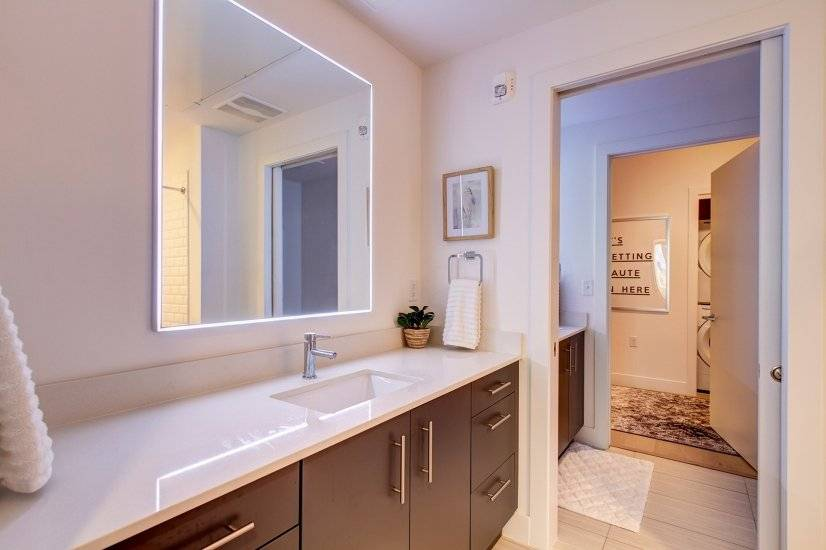 Extremely functional split bathroom
