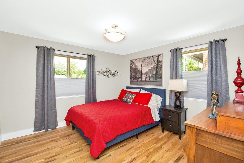 Bedroom #1 - Red Room Queen memory foam bed