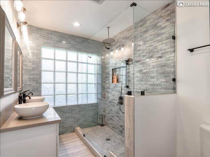 Master Bath 1 - Large walk in shower w/Rain head & handheld