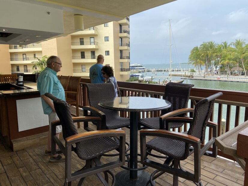 Outside yacht club bar!