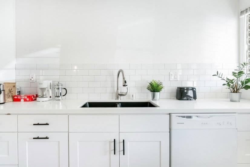 Quartz counters, dishwasher