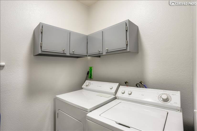 Full Sized Washer Dryer in Private Laundry Room