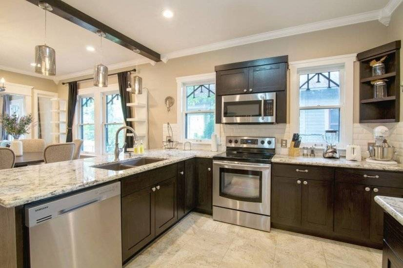 Stainless Steel Appliances and Marble countertops