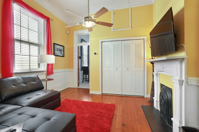 The Lounge provides a second closet and entertainment area