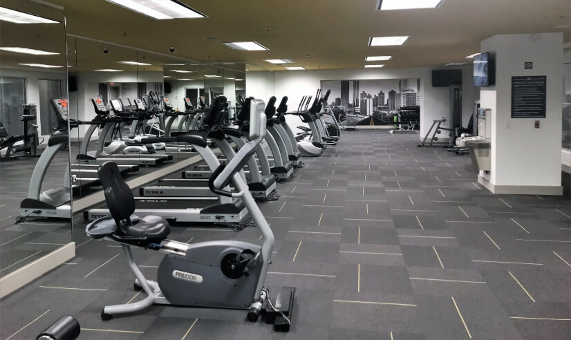 24 hour Fitness Center View