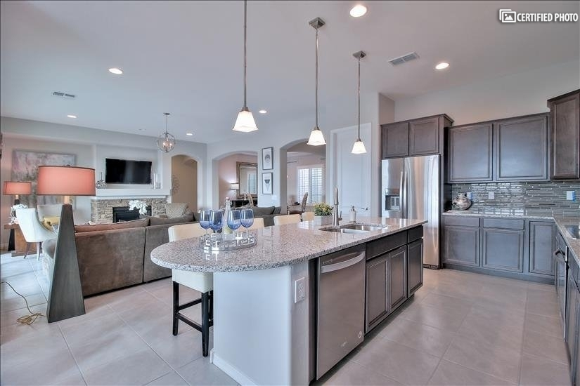 Granite countertops and upgraded dishwasher and frig.