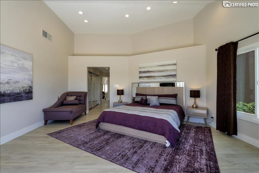 Huge Master bedroom with custom walk-in AND Reach-in closets