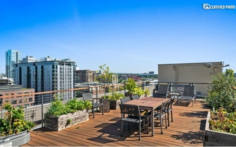 The roof deck is common property for all residents to enjoy