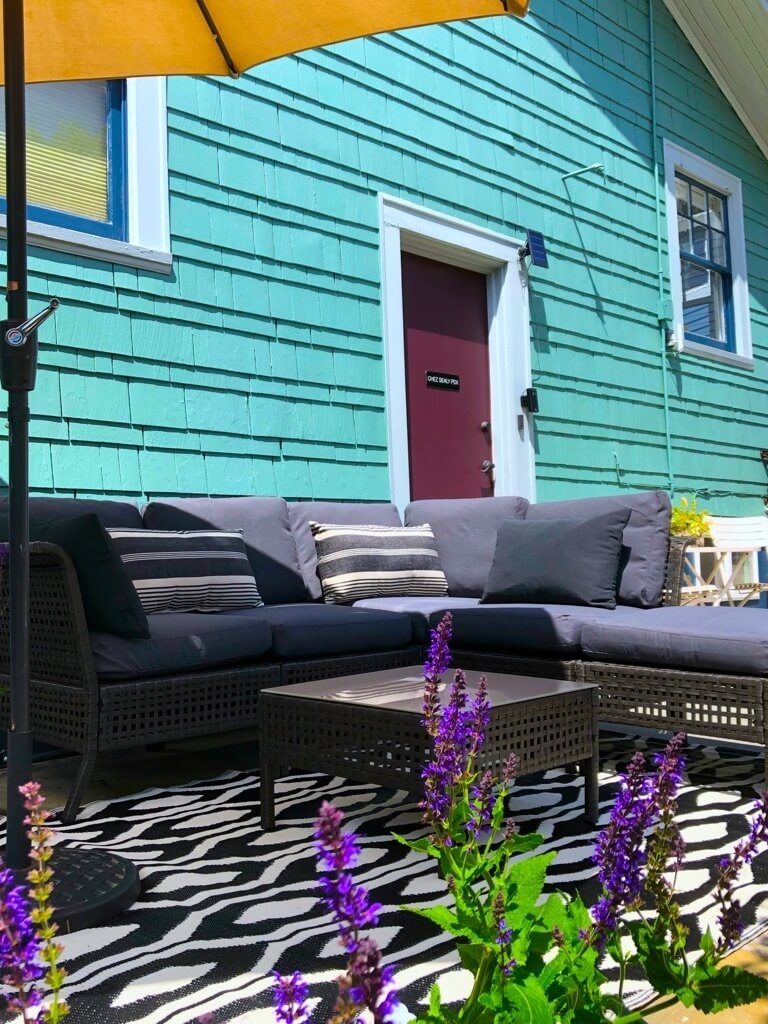 Private patio to enjoy the garden and your morning coffee or