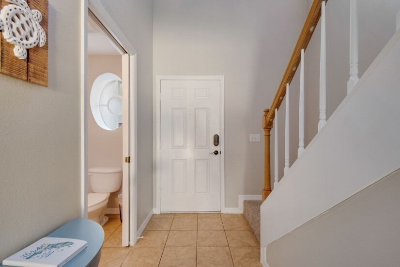 View of entrance and a 1/2 bathroom downstair