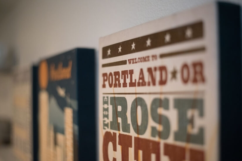 Funky Portland art.