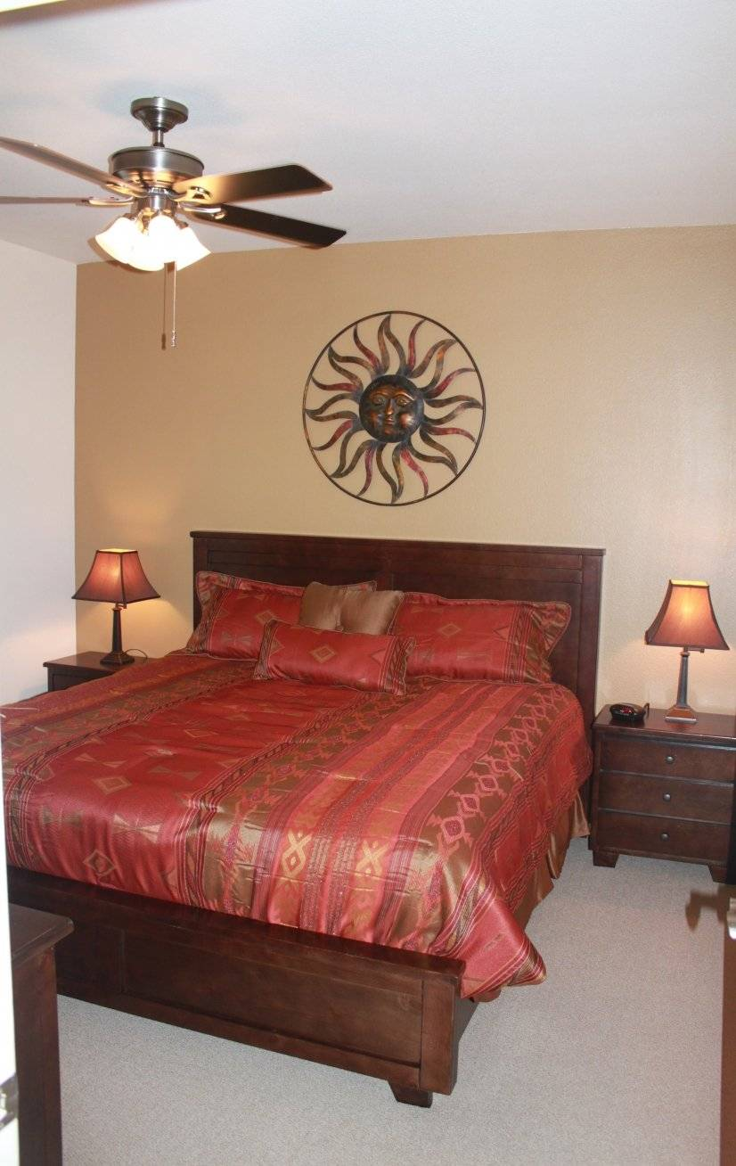 King size Sealy pillowtop in master bedroom.