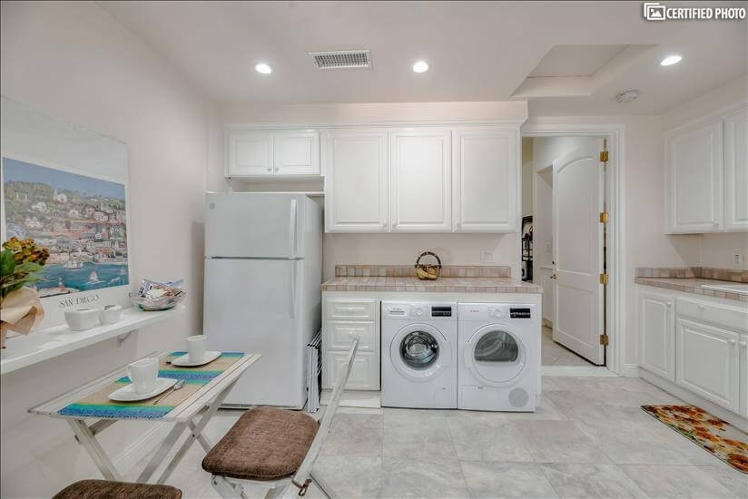Quiet Washer & Dryer and a Dishwasher.