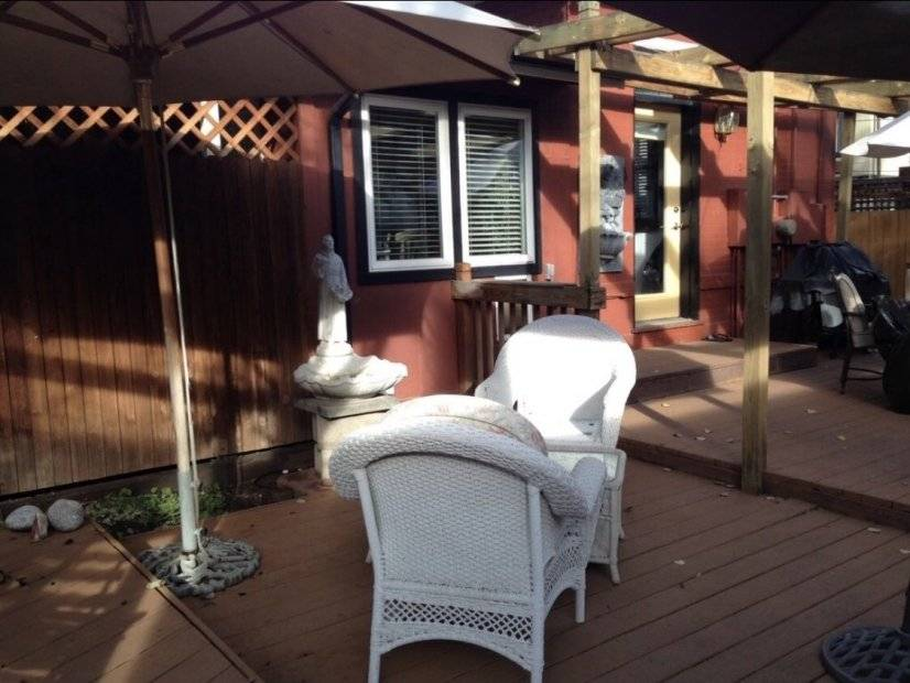 Extra patio seating area