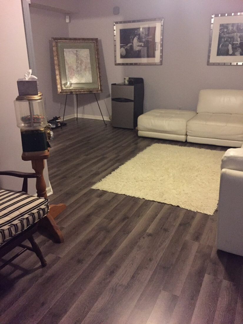 Family room with comforts of mini frig and ca