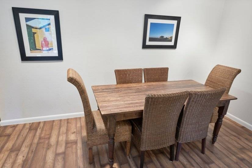 Custom made dining room table, seats 6 easily