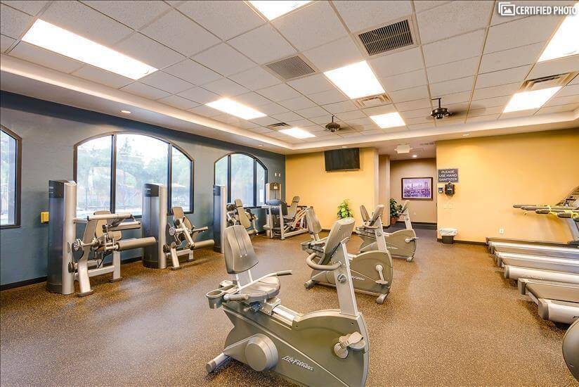 Work out room with commercial grade life fitn