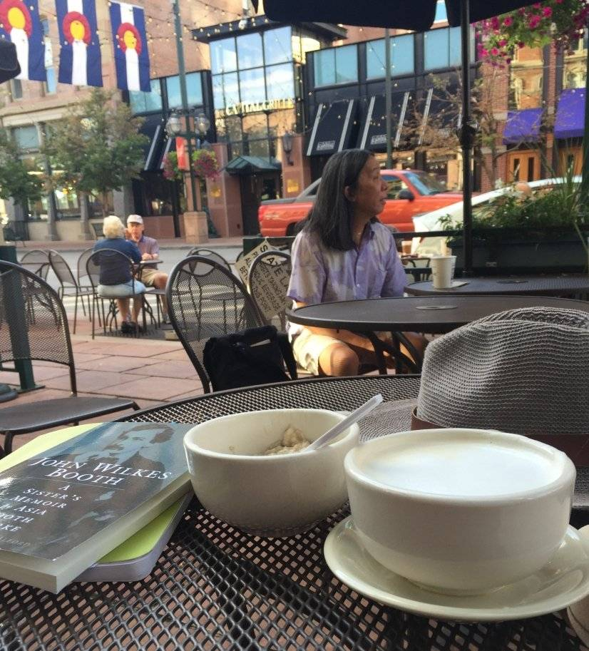 Morning coffee at the Market-Larimer Square.