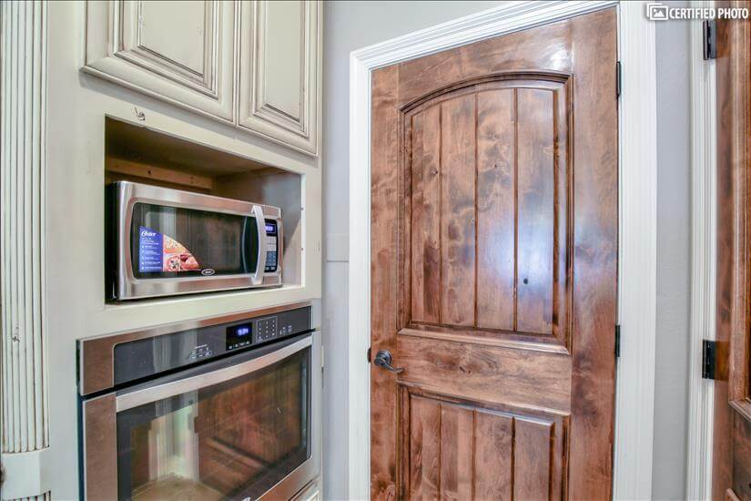 Stainless oven and microwave