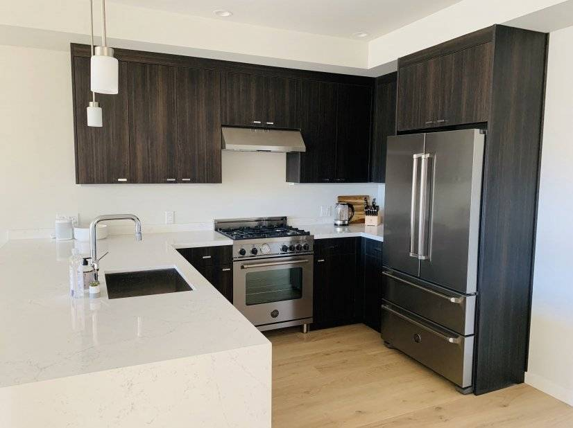 Fully equipped kitchen features convection oven