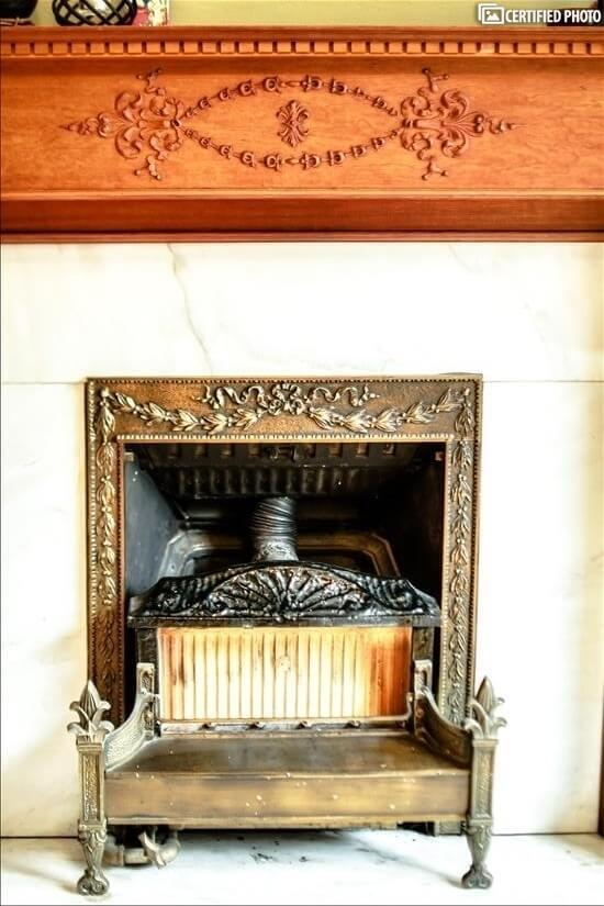 Historic gas heater adds period charm.