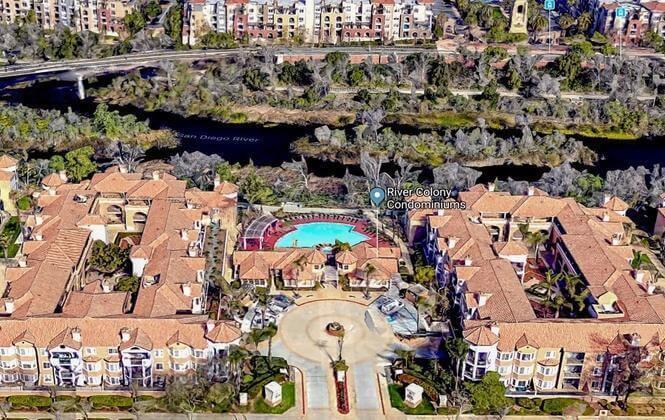 Aerial View River Colony Condos