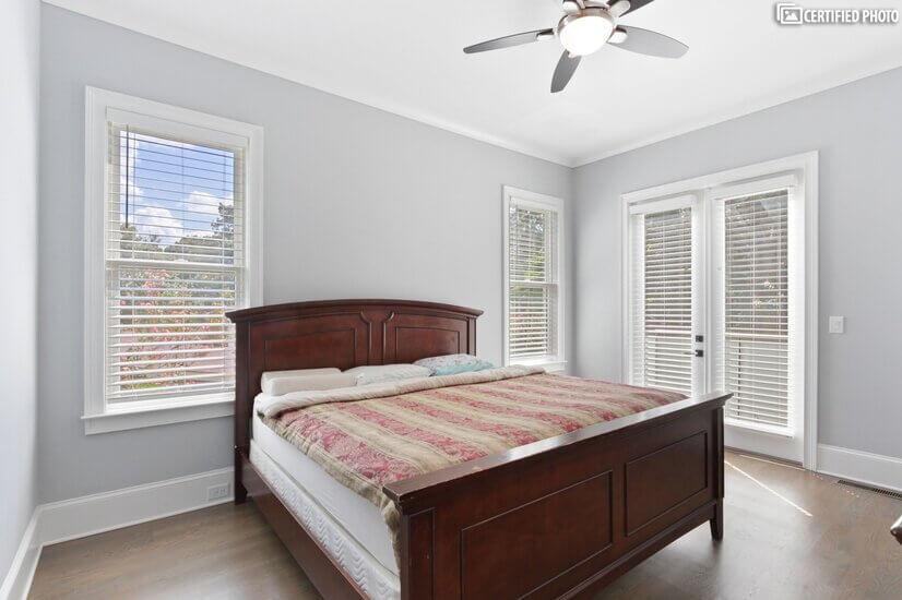 guest bedroom on main floor