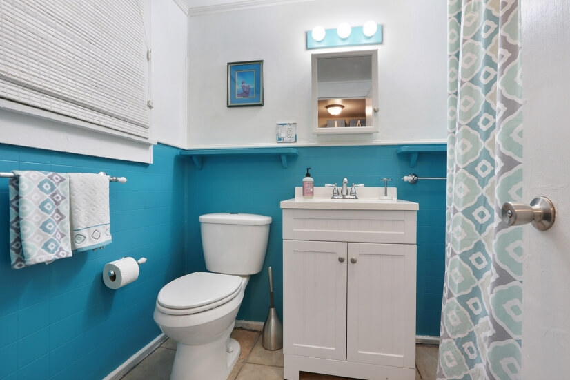 Newly painted and remodeled with claw foot tub