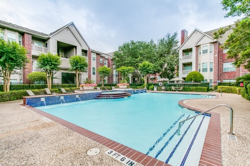 Inviting sparkling pool for those sunny Houston days