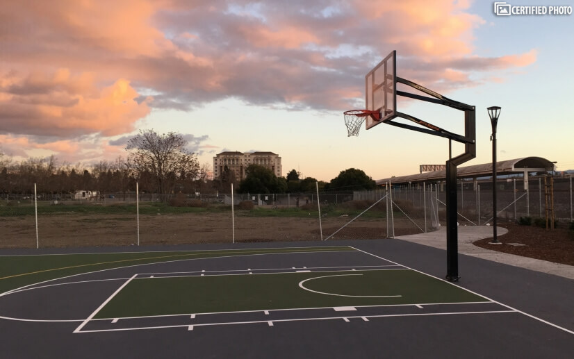 Tamien Park Basketball Skyline view