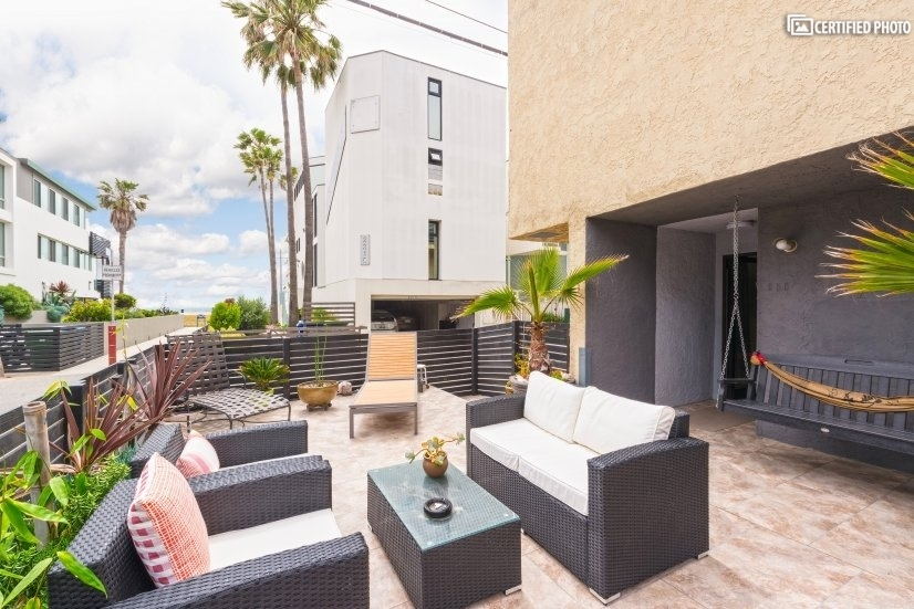 Enjoy the ocean view from the comfortable shared patio.