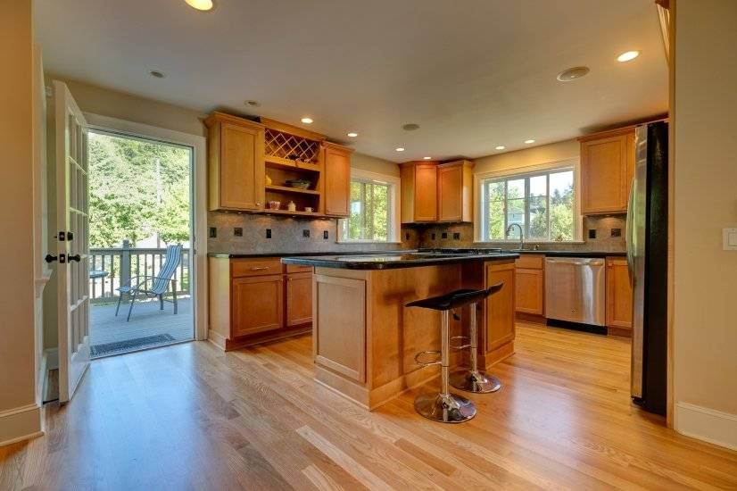 Open kitchen with gas stove