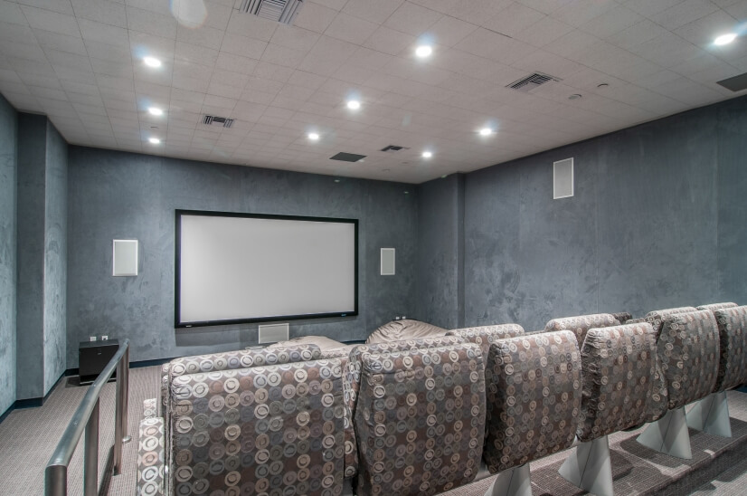 Media Room/ Viewing Room with Movie Theater Seating
